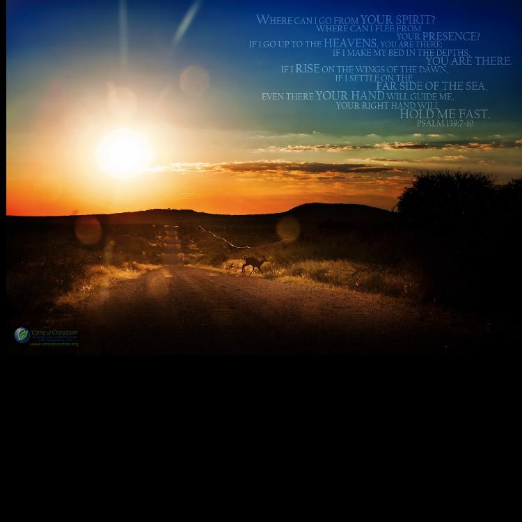"""Psalm 139 and Kudu Poster–12""""x18"""""""